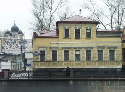 Снесенный особняк на Садовнической набережной, 2003 год. Фото А.Можаева