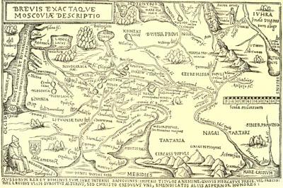 Карта Московского государства работы итальярского гравёра, конец 15 в.
