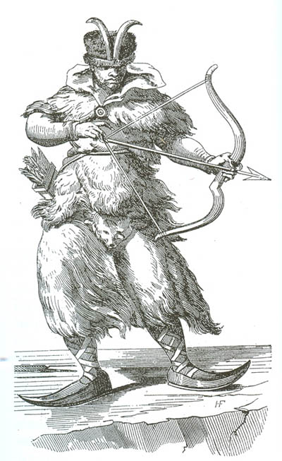 Северный житель. Европейская гравюра 16в.