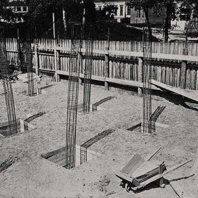 Начало строительства, июль 1929