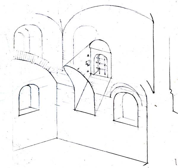 Вариант реконструкции юго-восточного угла палаты