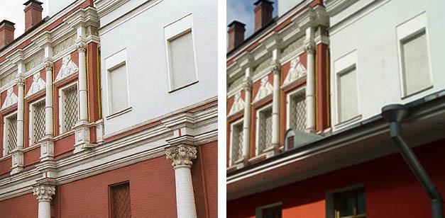 Монетный двор до и после строительства лавки Казанского собора.