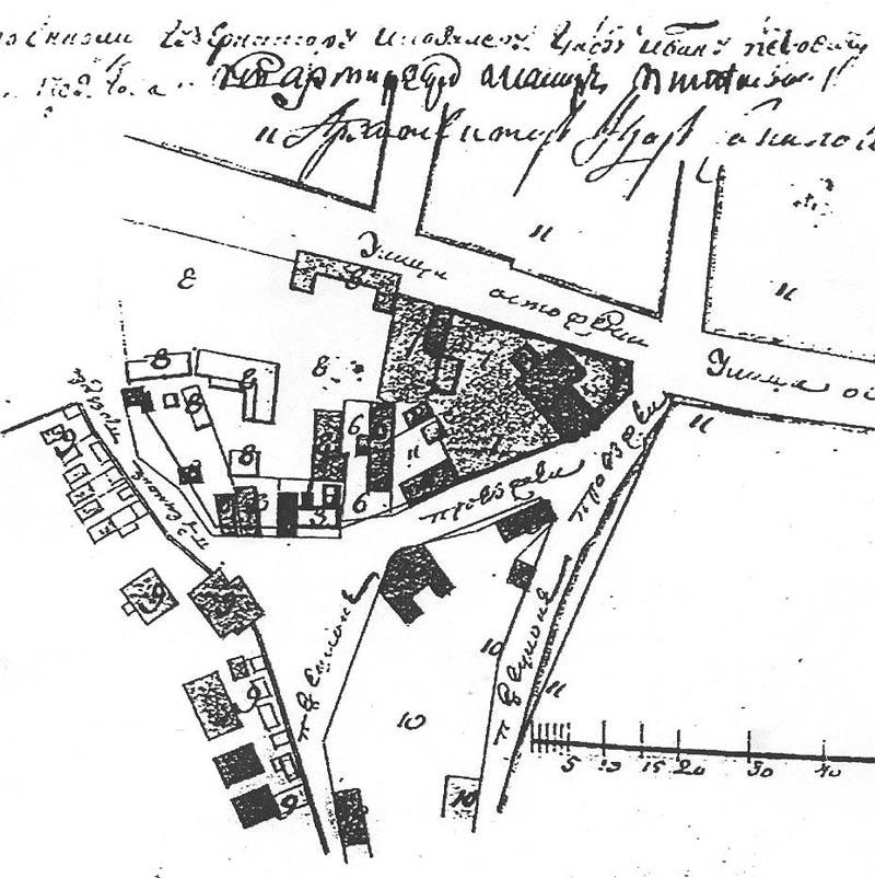 1764. Палаты обозначены под №6.