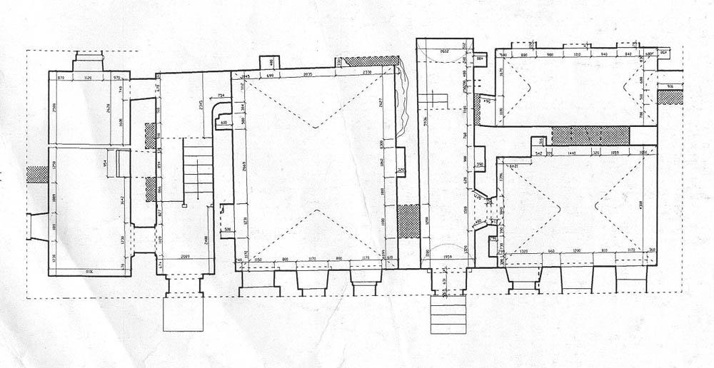 План 1 этажа, обмер ЦИГИ.