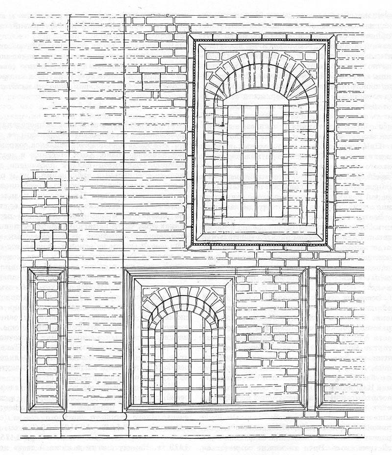 Фрагмент фасада Средней палаты, реконструкция