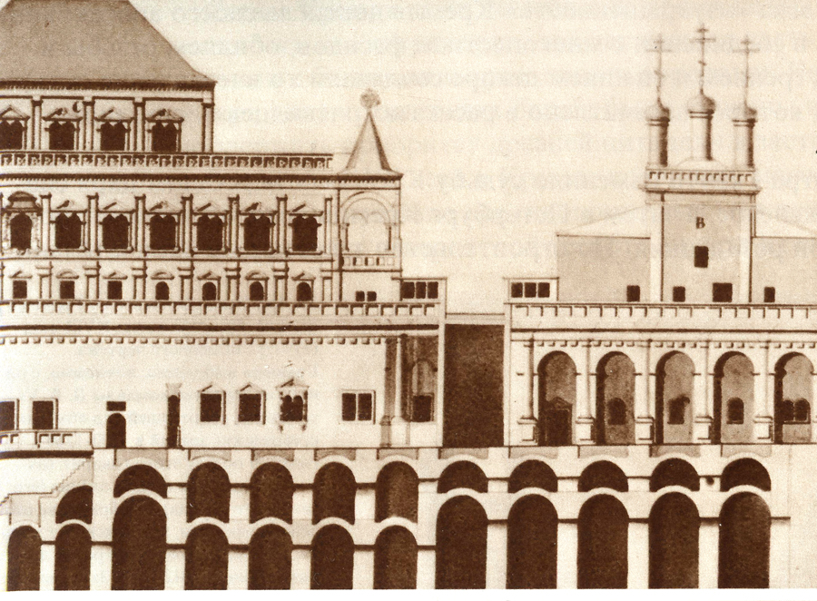 Разрез по Боярской площадке, 1750е