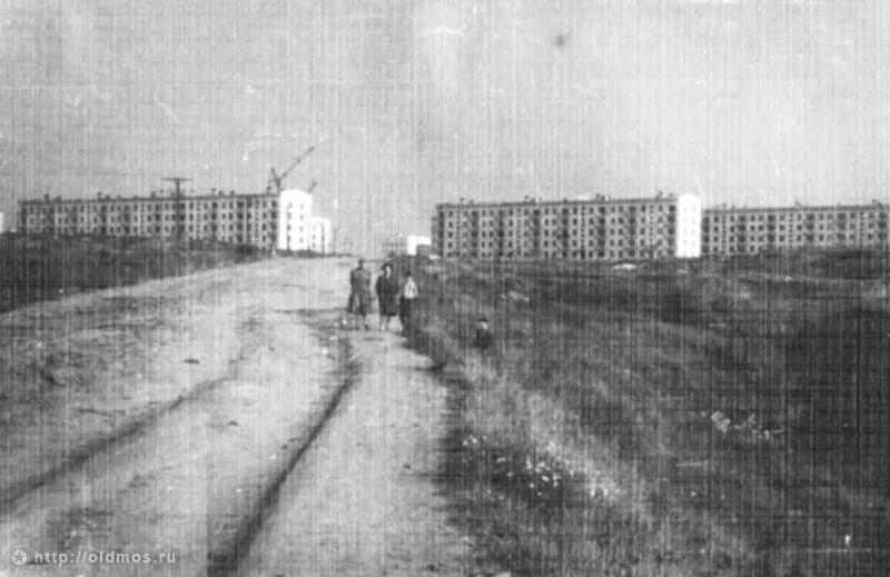 Боровское шоссе в начале 1960-х. Сегодня на этом месте находится здание МГИМО