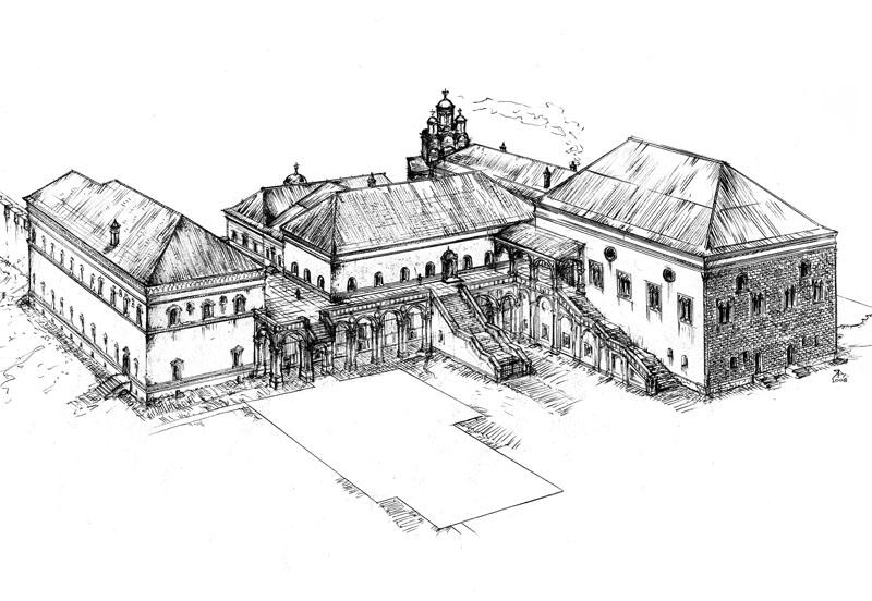 Дворец в 16 веке,