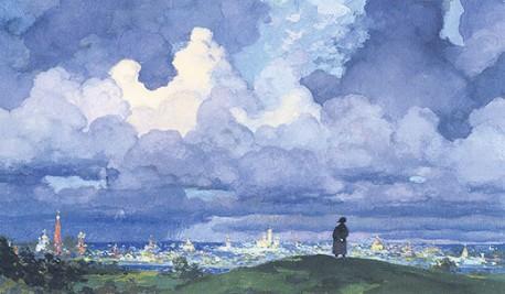 Наполеон на Поклонной горе.  Андрей Николаев, 1970-е гг.