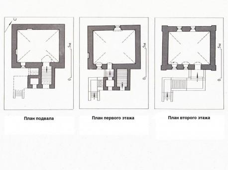 Поэтажный план палат в Чертольском переулке