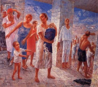 """Петров-Водкин """"Землетрясение в Крыму"""",1927"""