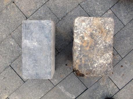 Новая и старая брусчатка на Баррикадной, 8 сентября, 2012, фото Н.Самовер