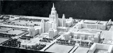 Проект комплекса МГУ на Ленинских горах
