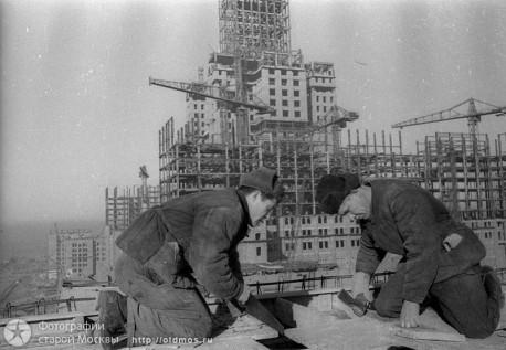 Cтроительство сталинской высотки