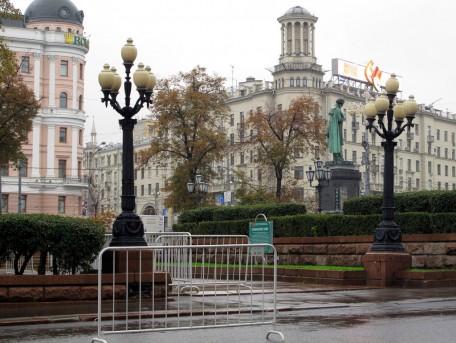 Фонари Минкуса на Пушкинской площади