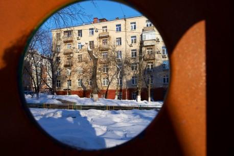 Буденновский, вид через окно