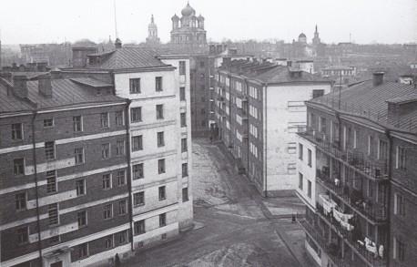 Хавско-Шаболовский жилой комплекс, историческое фото на фоне Донского монастыря