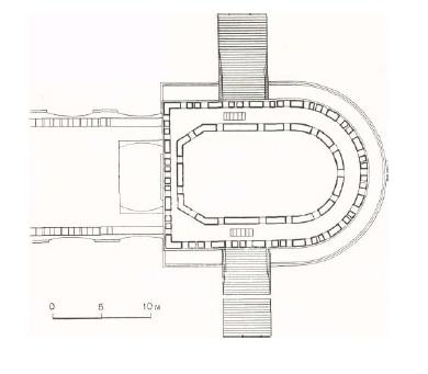 3. Кутафья-башня. План на уровне бойниц зубцов второго боевого яруса. Реконструкция
