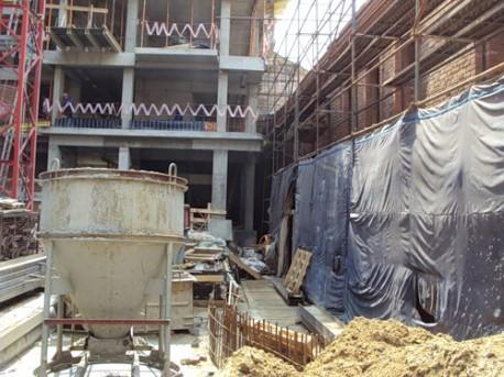 Возведение элитного комплекса рядом с палатами