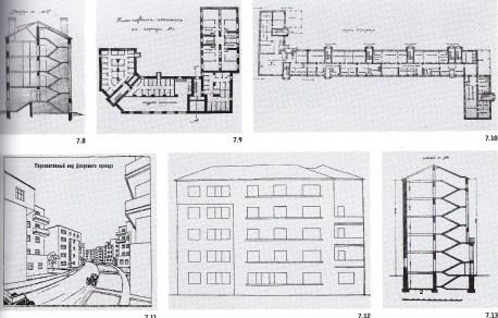 Чертежи Буденновского городка, вверху - 1926 год, остальные 1928-29гг.