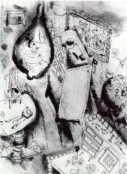 Комната Плюшкина, иллюстрация М.Шагала