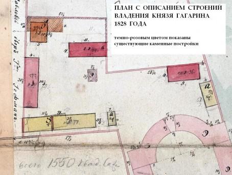 Ново-Екатерининская больница - план 1828 года