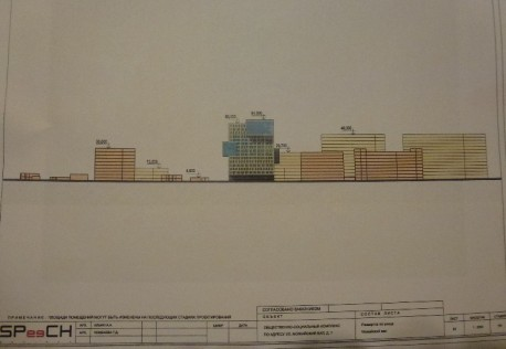 Будущее здание и окружение