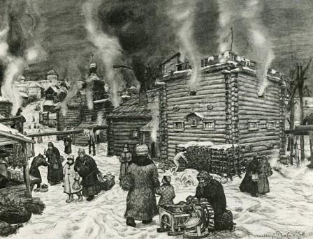 Общественные бани в Москве 17 век