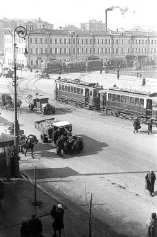 Доходный дом Бирюкова на Самотеке, дымит банная труба, сер. 1930-х годов