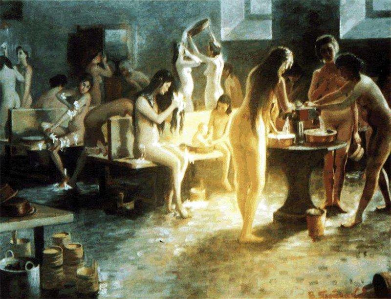 Как девушки купаются бане фото 473-448