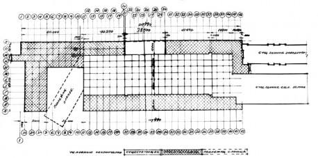 Рис. 4. Проект расширения литейного цеха. План. 1934 г.