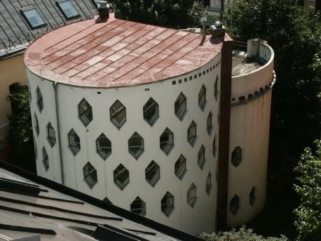Дом Мельникова - вид сверху