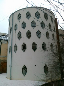 Дом Мельникова-задний фасад