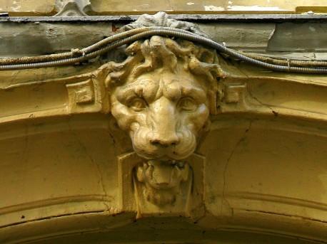 дом Быкова, маска льва