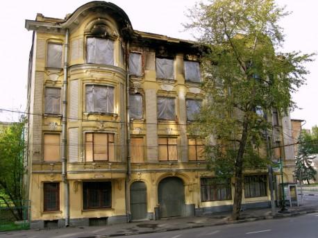 дом Быкова после пожара