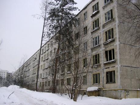 Дубнинская, 55, грандиозный К-7 (20 подъездов) перед сносом в 2006 году