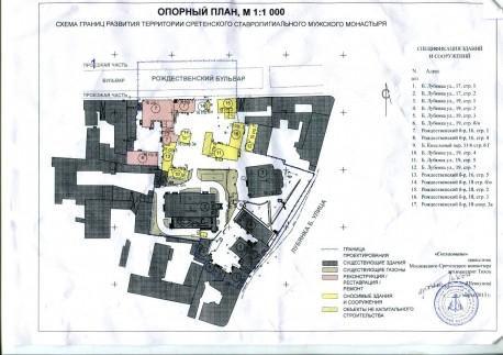 Опорный план проектируемой территории