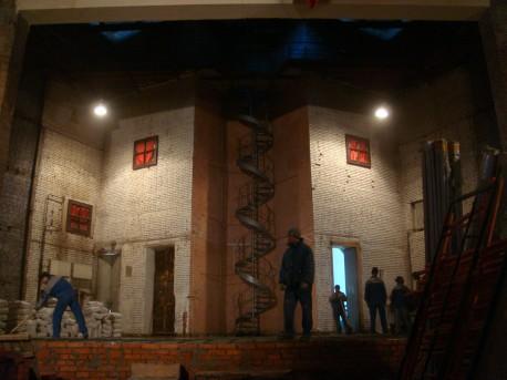 Зрительный зал ДК Русакова в начале работ