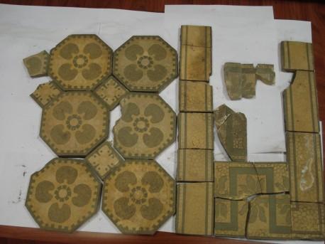 Реконструкция мозаичного панно, находившегося перед центральным подъездом дома № 18 на Мясницкой