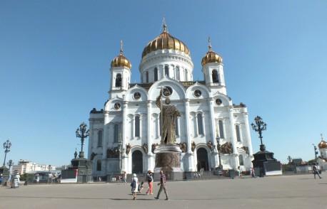 Статуя Владимира на Волхонке (вариант врисовки)