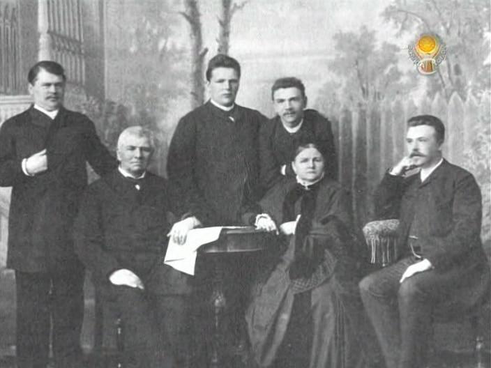 П.А. бахрушин с женой и сыновьями