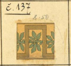 Образец метлахской плитки из каталога RAKO 1902 г