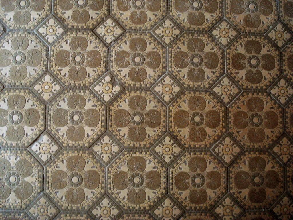 Мозаичное панно в тамбуре главного входа дома Носова
