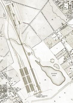 Схема московской станции, 1853 год