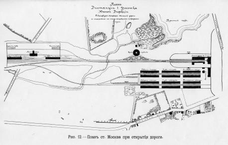 Станция Москва - план 1851