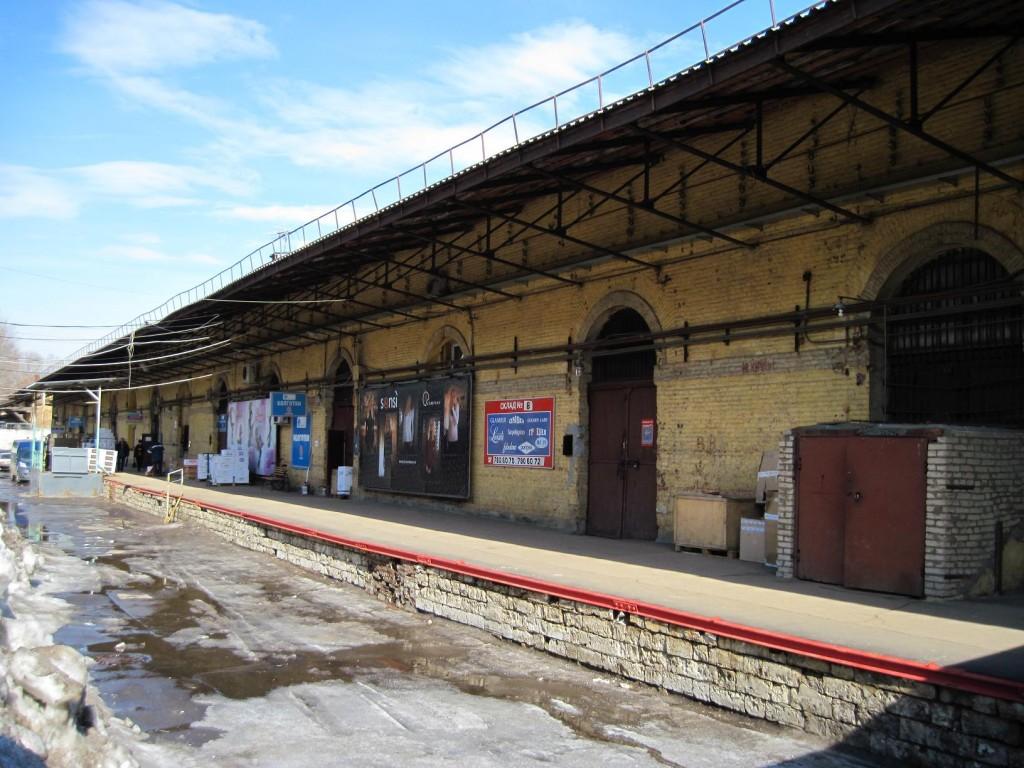 Товарная станция - пакгаузы 1840-х годов, фото нашего времени
