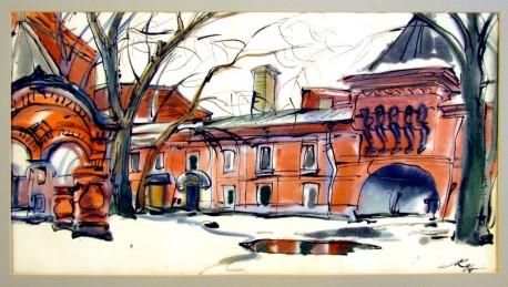 Лев Кубланов. На Большой Никитской. Из собрания Андрея Чернихова