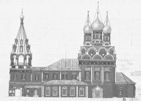 fasad-hrama-grigoriya-neokesariyskogo-na-bolshoy-polyanke-chertezh-xvii-veka