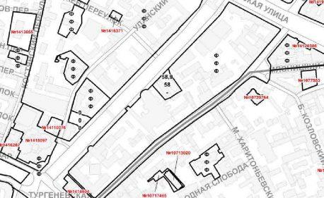 Фрагмент карты из материалов ПЗЗ с разрешенными параметрами нового строительства.