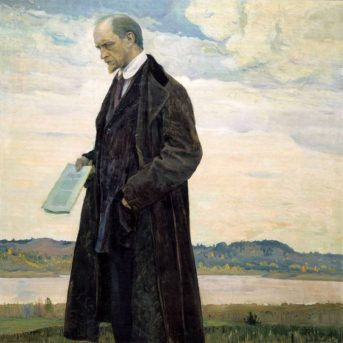 М.В.Нестеров. Мыслитель. 1921/1922 г.